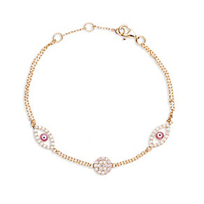 Gaia Gold-Plated Cubic Zirconia Eye Bracelet - Product number 1480057