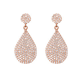 Gaia Rose Gold-Plated Hanging Pear Drop Earrings - Product number 1480235