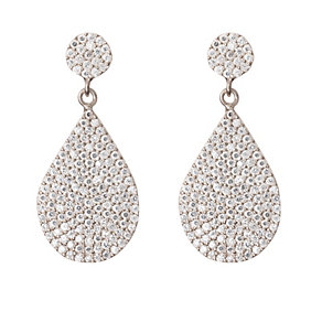 Gaia Sterling Silver Hanging Pear Drop Earrings - Product number 1480243