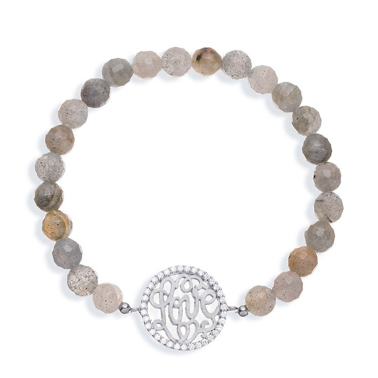 Gaia Sterling Silver Laboradite Love Bracelet - Product number 1481584