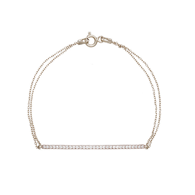 Gaia Sterling Silver Cubic Zirconia Bar Bracelet - Product number 1481819