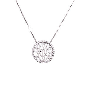 Gaia Sterling Silver Cubic Zirconia Love Circle necklace - Product number 1482157