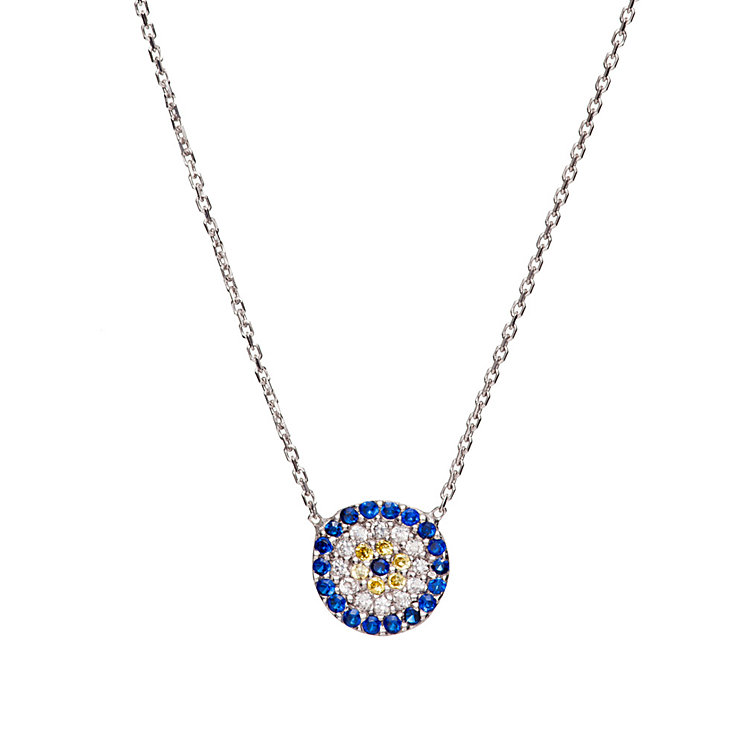 Gaia Sterling Silver Round Eye Necklace - Product number 1482211
