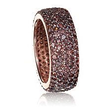 Gaia Gold-Plated Brown Cubic Zirconia Ring Size N - Product number 1482815