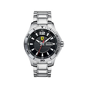 Ferrari men's black dial stainless steel bracelet watch - Product number 1483390