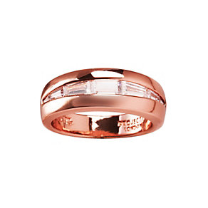 Project D London rose gold-plated stone set ring size P - Product number 1483854