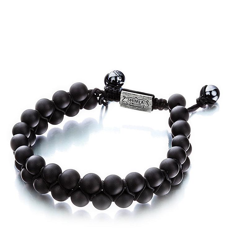 Shimla Luxury Originals Black Onyx Double Bead Rope Bracelet - Product number 1484087