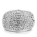 Shimla Clear Crystal Set Stainless Steel Ring Size N - Product number 1484427