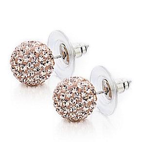 Shimla Rose Gold Tone Small Fireball Earrings - Product number 1484591