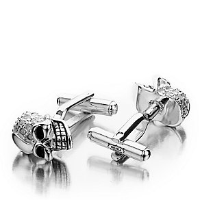 Shimla Clear Crystal Set Skull Cufflinks - Product number 1484680