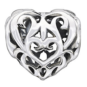 Chamilia Sterling Silver Filigree Heart Bead - Product number 1485334