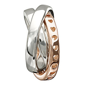 Chamilia Sterling Silver & Rose Gold-Plated Rings Bead - Product number 1485350