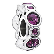 Chamilia Sterling Silver Crystal February Birthstone Bead - Product number 1485377
