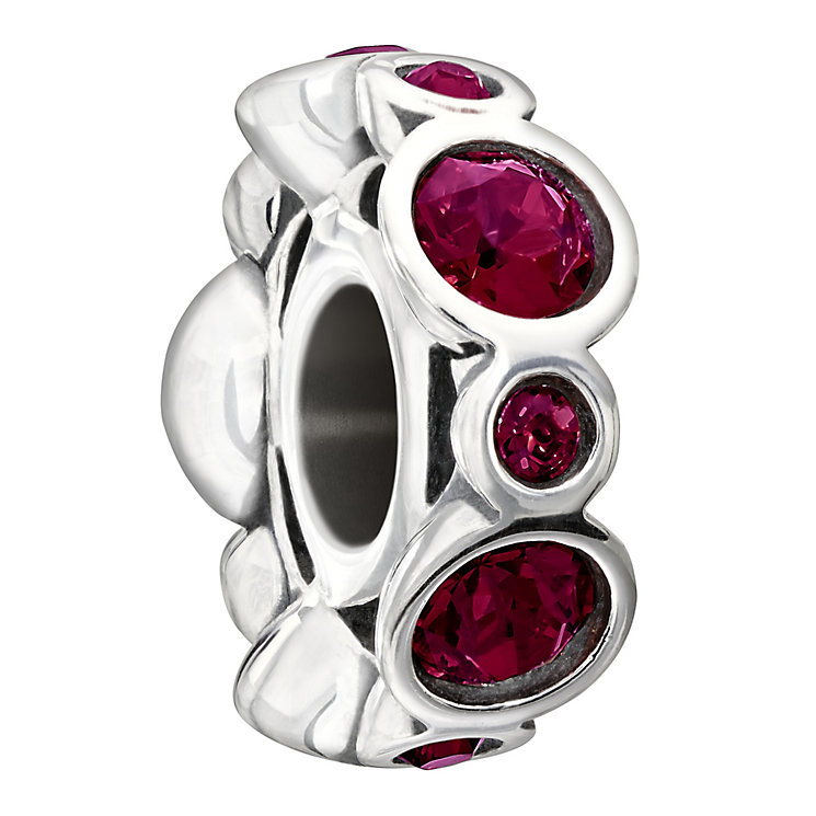 Chamilia Sterling Silver Crystal July Birthstone Bead - Product number 1485660