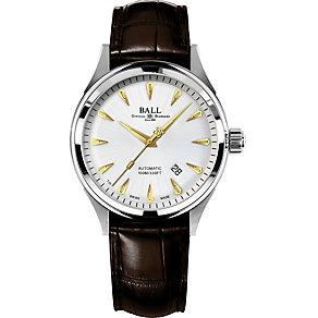 Ball Fireman Racer men's stainless steel black strap watch - Product number 1486608