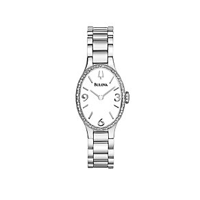 Bulova Diamond Gallery 60 Ladies' Oval Stainless Steel Watch - Product number 1487841