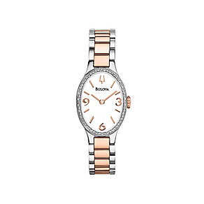 Bulova Diamond Gallery 60 Ladies' Two Colour Bracelet Watch - Product number 1487868