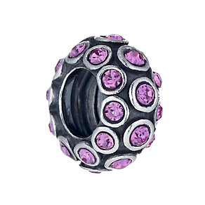 Special Memories Sterling Silver Rose Crystal Spinner Bead - Product number 1487930