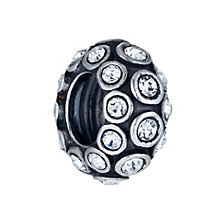 Special Memories Sterling Silver Clear Crystal Spinner Bead - Product number 1487949