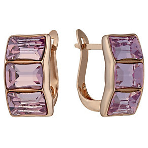 Radiance Rose Gold-Plated Pink Swarovski Crystal Earrings - Product number 1488201