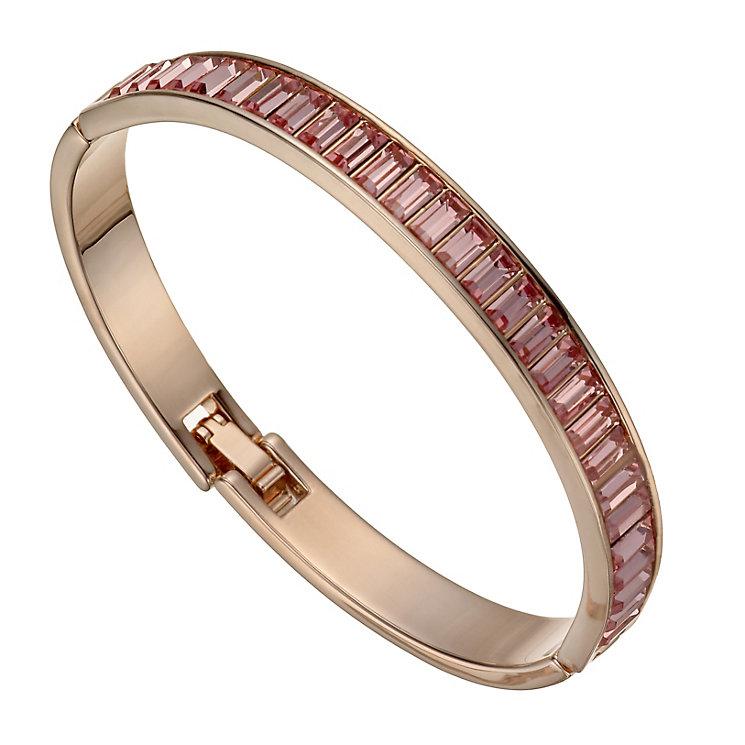 Radiance Rose Gold-Plated Pink Swarovski Crystal Bangle - Product number 1488228