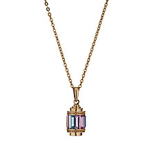 Radiance Rose Gold-Plated Multi Colour Crystal Pendant - Product number 1488236