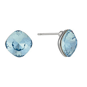 Radiance Square Blue Crystal Stud Earrings - Product number 1488252