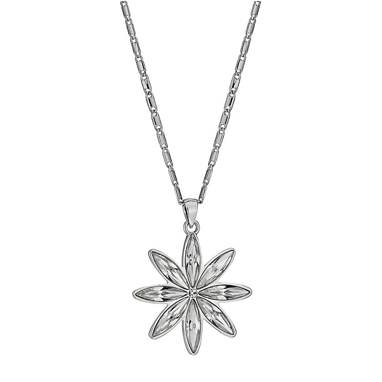 Radiance White Gold-Plated Crystal Snowflake Pendant - Product number 1488295