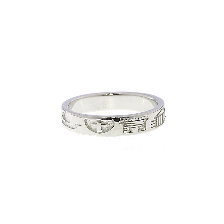 Cailin Sterling Silver History Ring Size L - Product number 1490443
