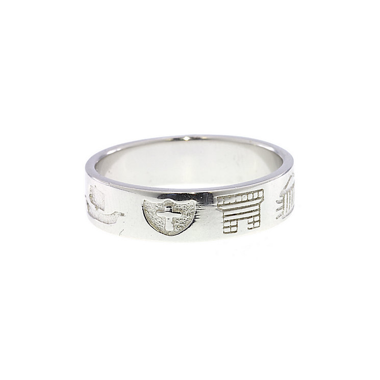 Cailin Men's Sterling Silver History Ring Size R - Product number 1490451