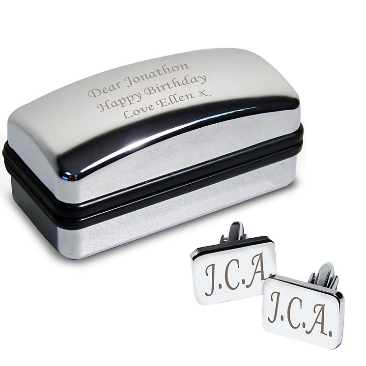 Engraved Rectangle Cufflinks and Gift Box - Product number 1490508