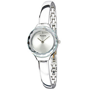 Accurist Ladies' Stainless Steel Semi Bangle Watch - Product number 1490907