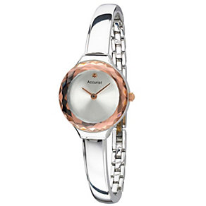 Accurist Ladies' Stainless Steel Semi Bangle Watch - Product number 1490915