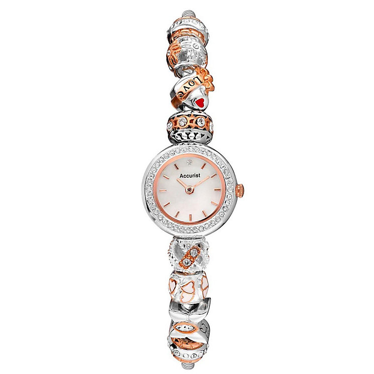 Accurist Charmed Ladies' Two Tone Bead Bracelet Watch - Product number 1492829