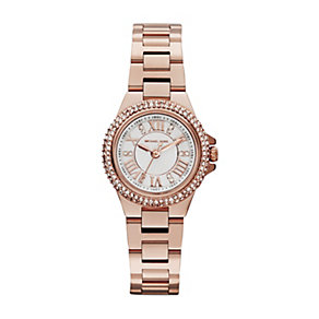 Michael Kors Camille ladies' rose gold-plated bracelet watch - Product number 1493981