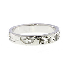 Cailin sterling silver thin heritage ring size N - Product number 1494112