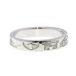 Cailin sterling silver thin heritage ring size P - Product number 1494120