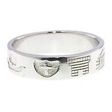 Cailin sterling silver wide heritage ring size V - Product number 1494147