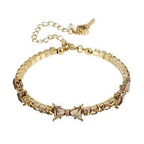 Betsey Johnson Light Brown Crystal Bracelet - Product number 1494856