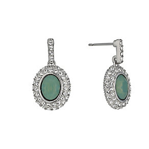Rhodium-Plated Pacific Opal & Crystal Drop Earrings - Product number 1520008
