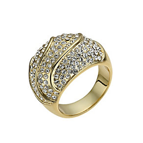 Gold-Plated Crystal Domed Ring Size O - Product number 1520199