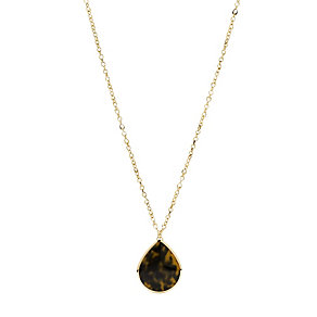 Fossil Gold-Plated Tortoiseshell Effect Vintage Pendant - Product number 1521772