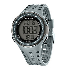 police watches men s ladies police watches h samuel police men s pu strap watch product number 1522124