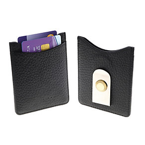 Jean Pierre black leather cardholder & money clip - Product number 1524844