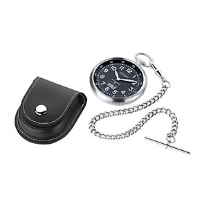 Jean Pierre radio controlled pocket watch & leather case - Product number 1524852