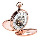 Jean Pierre rose gold-plated double skeleton pocket watch - Product number 1524879