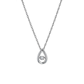 Diamonds in Rhythm sterling silver diamond pear drop pendant - Product number 1526189