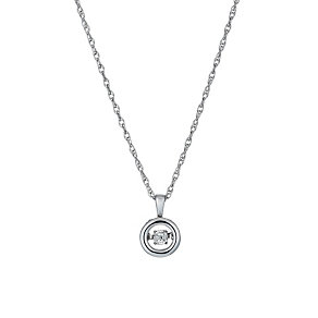 Diamonds in Rhythm sterling silver round diamond pendant - Product number 1526219
