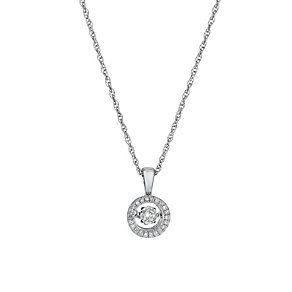 Diamonds in Rhythm silver round 15 point diamond pendant - Product number 1526235