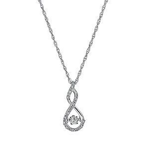Diamonds in Rhythm silver 10pt diamond figure of 8 pendant - Product number 1526251